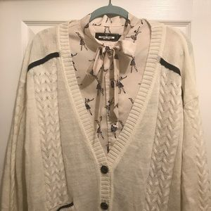 Anthropologie Sweaters - Anthropologie | Folk cable knit cardigan XL